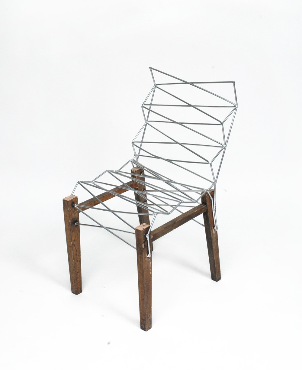 ... Into 2 Chairs With The Addition Of 6mm Steel Rod. A Kind Of Intensive  Repair, But Also A Way To Forge New Identity For An Object Made Anonymous  By The ...