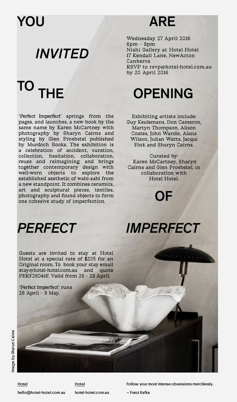 Perfect Imperfect Exhibition invite